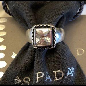 Silpada ❤️Elizabeth Cubic Zirconia Sterling Ring